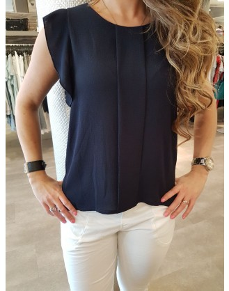 TOP STRETCH 7646 D.blauw
